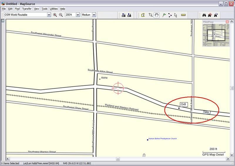 MapSource example